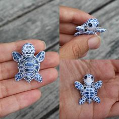 Afbeeldingsresultaat voor polymer clay ideas by kristine Polymer Clay Turtle, Polymer Clay Kunst, Polymer Clay Figures, Polymer Clay Animals, Polymer Clay Miniatures, Polymer Clay Projects, Polymer Clay Creations, Clay Crafts, Fimo Clay