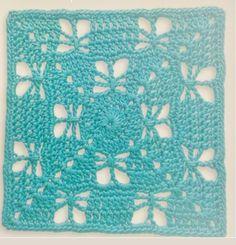 13 Grannys en Azules y Verdes (esquemas)   Otakulandia.es Knitting Stiches, Crochet, Blue Nails, Tutorials, Green, Patterns, Colors, Violets, Picture Walls
