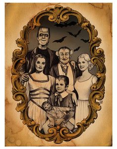 The Munsters signed print with border by bsmithereens on Etsy The Munsters, Munsters House, Agatha Christie, Horror Art, Horror Movies, Cult Movies, Herman Munster, Lily Munster, Adams Family