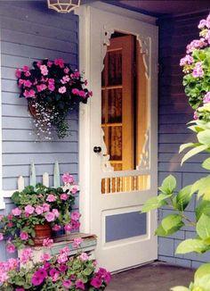 Porch inspiration ~ love love love the screen door