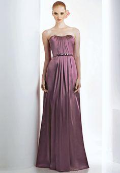 Strapless & Ruffled Bridesmaid Dress