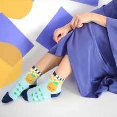 Research shows socks could be linked to happiness. Happy little pineapple socks paired with the #limedrop Blue chalk skirt and kimono! #fashion #melbourne #silk #socks #liveinfullcolour #happinessis