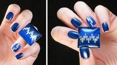 DIY - bagues nail art carrées