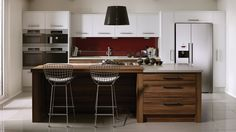 Wyvis Painted Shaker in Fired Charcoal and Farr Beach | Kitchens ...