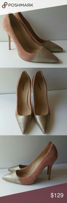 """JCREW Collection Roxie glitter suede pumps NEW Sexy yet polished, our high-heel, pointy-toe Roxie is a modern classic (it's the shoe that will launch a thousand amazing outfits—and counting). Suede upper.4 1/8"""" heel Leather lining and sole. Made in Italy. Item A9599. Brand NEW NEVER WORN SOLD OUT MOST POPULAR  STORED IN A SMOKE FREE AND PET FREE HOME MARK ON LABEL TO PREVENT STORE RETURN color is called quartz platinum J. Crew Shoes Heels Amazing Outfits, Cool Outfits, High Heels, Shoes Heels, Suede Pumps, Modern Classic, Shoe Game, Roxy, Fashion Tips"""