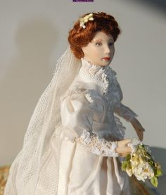 Another doll made this month. Bridal 1880 with all with the symbols she has to wear in her outfit.