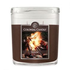 #Colonial #Candles.  Fireside scent.  I love woodsy smells with a hint of #amber.