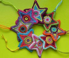 crocheted Christmas stars