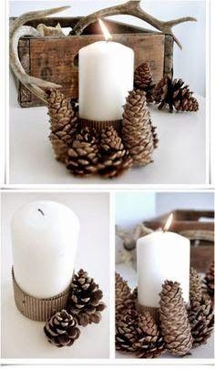 Adornos de navidad con piñas | Decoración