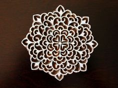 Indian Hand Carved Wood Block Stamp Beautiful by charancreations