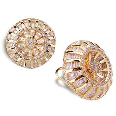 Lead Free Brass AAA Top Quality Cubic Zircon 312 Pieces Women Fashion Deluxe Stud Earring Prong Setting Anniversary Gift Jewelry