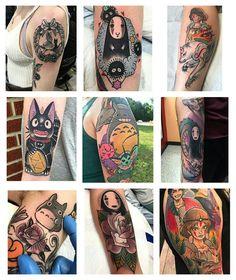 Hayao Miyazaki tattoos by Chrismesitattoo