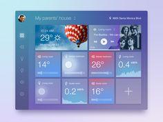 Daily UI #021 - Home Monitoring Dashboard by Serj Krush