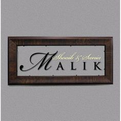 Allegro Name Plate - Rectangle  checkout @ http://engrave.in/products/name-plates/allegro-name-plates