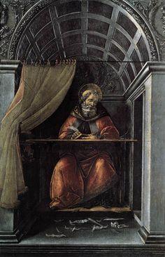 SANDRO BOTTICELLI ( 1445 - 1510) | St. Augustine in his cell. Fresco.