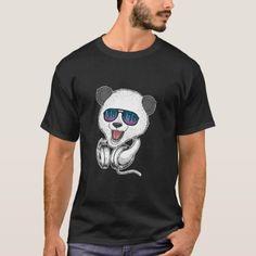 Panda with Equalizer Glasses Bears Music & Par T-Shirt Festival Shirts, Tshirt Colors, Keep It Cleaner, Panda, Bears, Fitness Models, Amp, Glasses, Music