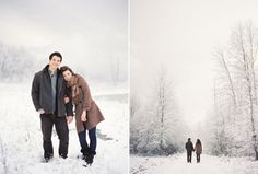 Engagement Photography, Winter Engagement Session, via Snippet & Ink, Photography by Bryce Covey