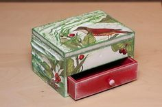 Cute box.  I like the red drawer.