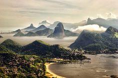 Rio De Janeiro Visto Do Parque Da Cidade Em Niteroi