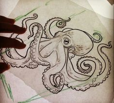 Add Seaweed where the green lines are Related posts:Octopus the Diver Art Print by Marija TiurinaTop 60 Eye Catching Tattoos For Men With Meaning # Octopus Drawing, Octopus Tattoo Design, Octopus Tattoos, Octopus Art, Tattoo Designs, Squid Tattoo, Octopus Sketch, Octopus Tattoo Sleeve, Mermaid Tattoos