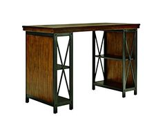 Signature Design by Ashley H52634 Shayneville Collection Home Office Counter Height Desk 54 Rustic Brown * Read more  at the image link.Note:It is affiliate link to Amazon. #HomeOfficeFitting