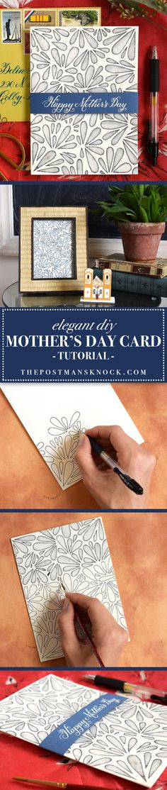 Mother's Day is May 14th, which gives you plenty of time to make this gorgeous card! There are a lot of things to love about it, from the elegant sash to the fact that it doubles as chic artwork. Definitely give it a try!