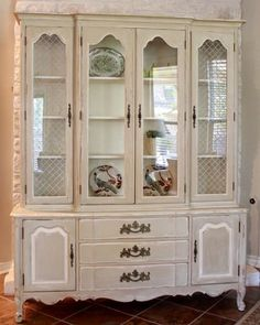 French painted antique cabinet