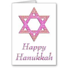 Star of David Happy Hanukkah Greeting Card 21