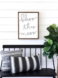 L I S T I N G << This listing is for one beautiful, handmade BLESS THIS MESS sign. This item is a MADE TO ORDER SIGN, and will be shipped within 15-18 BUSINESS DAYS from purchase. You will receive an update via your email once your item has shipped. NOTE- Please see our color