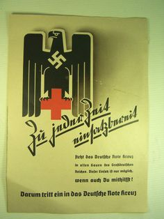 Poster /'Join the German Red Cross/' Paramedics Rotes Kreuz WWII Wehrmacht