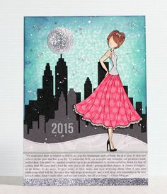 Round Here: Paper Doll Layout | January 2015