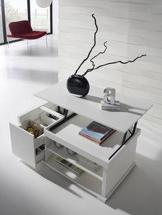 1000 images about table basse table basse relevable on pinterest tables - Table basse relevable blanc ...