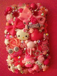 Kawaii Pink Blackberry 9900 9930 Decoden Phone Case by LUXYLOLI, $80.00