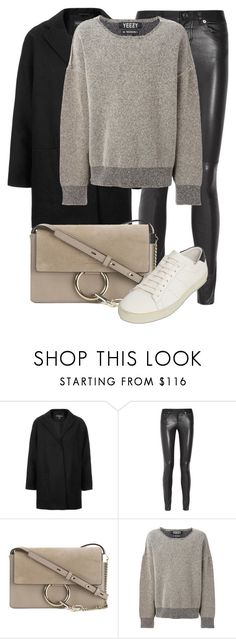 """""""Untitled #2267"""" by annielizjung ❤ liked on Polyvore featuring Topshop, Yves Saint Laurent, Chloé and adidas Originals"""