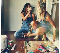Painting with your bestie!