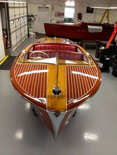 1952 Chris Craft Riviera for sale. Wooden Boats For Sale, Wooden Boat Kits, Wooden Speed Boats, Wooden Sailboat, Wood Boat Plans, Wooden Boat Building, Boat Building Plans, Wood Boats, Sailboat Plans