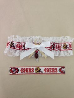 "San Francisco ""49er's"" 2.5"" Wide Garter by SportzNutty on Etsy"