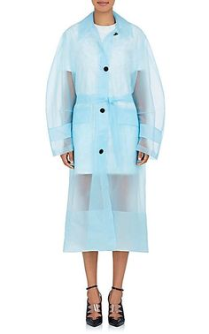 CALVIN KLEIN 205W39NYC Matte Plastic Belted Mackintosh Coat - Jackets - 505489618