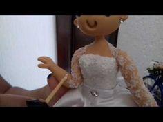 Como fazer renda de biscuit para vestido de noiva! - YouTube