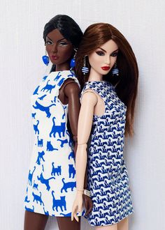 Animalistic A-silhouette dress for Poppy Parker Nu face by olgaomi