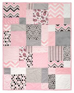 Baby Quilts Free quilt pattern ('Tuscan Cuddle') using Cuddle pre-cuts from Shannon Fabrics … Quilt Baby, Baby Quilts Easy, Baby Girl Quilts, Girls Quilts, Rag Quilt, Quilt Top, Patchwork Quilt Patterns, Scrappy Quilts, Quilting Fabric