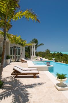 Long Bay pool and deck turks and caicos