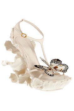 Sandales blanches Alexander McQueen printemps été 2011