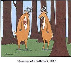"""Bummer of a birthmark, Hal."" - Gary Larson, The Far Side"