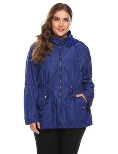248bb45630b29 Lightweight Raincoat Windproof Waterproof - Dark Blue - CO186YNQ90E