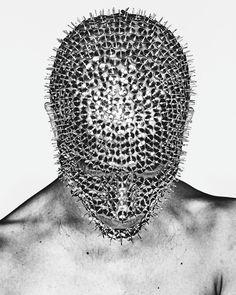 # Christian Anwander 📷 ' The Black Soft ' Marlon Teixeira, Headdress, Headpiece, Eiko Ishioka, Gay Art, Headgear, Masquerade, Monochrome, Black And White