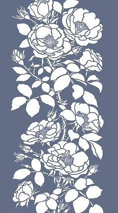 Stencil Templates, Stencil Patterns, Stencil Designs, Rose Stencil, Flower Stencils, Stencil Painting, Fabric Painting, Hand Painted Dress, Flower Pattern Design