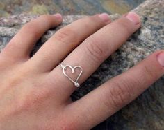 Infinity Heart Ring - 925 Sterling Silver Ring, Infinity Ring, Love Ring, Sweetheart Ring, Best Friend Rings, Mother Daughter Jewelry