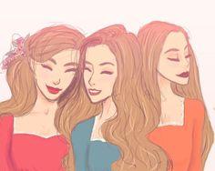 Archeron sisters // Elain , Feyre And Nesta