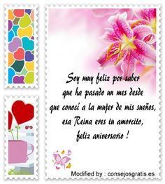 palabras de aniversario de novios,saludos de aniversario de novios : http://www.consejosgratis.es/frases-para-festejar-el-primer-mes-de-novios/